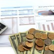 Business chart report collect budget — Stockfoto