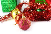 Christmas ball with christmas decoration — Stock Photo