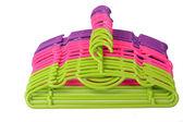 Colored plastic hangers — Stock Photo