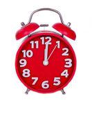Red alarm clock — Zdjęcie stockowe