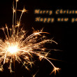 Stock Photo: Christmas and newyear party sparkler on black