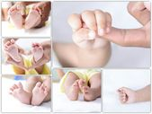 Infant new born collection — Stock Photo