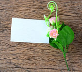 Empty paper card with spring flowers — Foto Stock