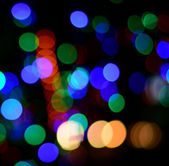 Abstract circular bokeh background of Christmaslight — Stock Photo