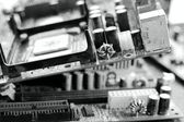 Old many mainboard computer — Stock Photo