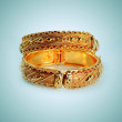 Golden bracelets — Stock Photo
