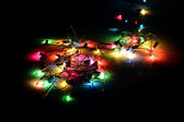 Christmas lights in the night — 图库照片