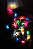 Christmas lights in the night — Stockfoto