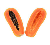 Fresh and tasty papaya isolated — Stock Photo
