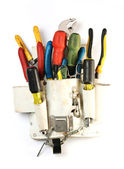 Zestaw narzędzi w Skrzynka narzędziowa — Zdjęcie stockowe