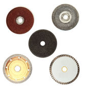 Abrasive disks for metal and stone grinding — Stock Photo