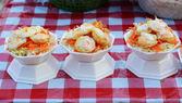 Fresh Fried Quail Eggs  — Stock Photo