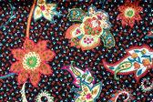 Colorful batik cloth fabric background  — Stock Photo
