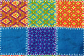 Colorful batik cloth fabric background  — Stock Photo