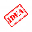 Idea rubber stamp — Stock Photo