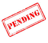 Pending rubber stamp — Stock Photo
