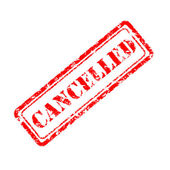 Cancelled rubber stamp — Stock Photo