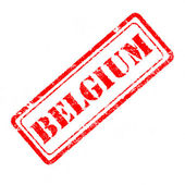 Belgium rubber stamp — Foto de Stock