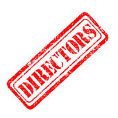 Directors Rubber Stamp  — Stock Photo