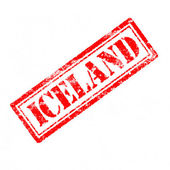 Iceland Rubber Stamp  — Stock Photo