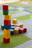 Cubo torres brinquedo — Fotografia Stock