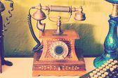 ретро телефон - ретро телефон — Стоковое фото