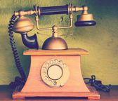 Retro Phone - Vintage Telephone — Stock Photo