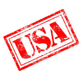 Usa rubber stamp — Photo