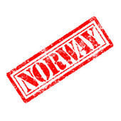 Norway rubber stamp — Stock Photo