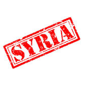 SYRIA Rubber Stamp — Stock Photo