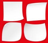 Self-adhesive paper — Stock Vector