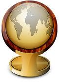 золотой глобус — Cтоковый вектор