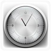 Metal clock — Stock Vector