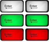 Enter-knappen — Stockvektor