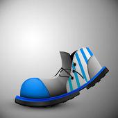 старый клоун обувь — Cтоковый вектор