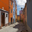 Colorful street in the old town of Bosa, Sardinia, Italy — Stock Photo