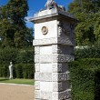 Sphinx on the gate piers at Chiswick House and Gardens, London, UK — Stock Photo