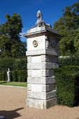 Sphinx on the gate piers at Chiswick House and Gardens, London, UK — Stok fotoğraf