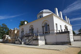 Chiswick House is a Palladian villa in Burlington Lane, Chiswick, in the London Borough of Hounslow in England — Stock Photo
