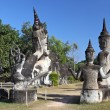 Buddha Park, also known as Xieng Khuan, is a park full of bizarre and eccentric statues near Vientiane, Laos, SE Asia — Stock Photo #24273471