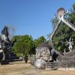 Buddha Park, also known as Xieng Khuan, is a park full of bizarre and eccentric statues near Vientiane, Laos, SE Asia — Stock Photo