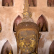 Stock Photo: Buddhstatue found in cloister of Wat Si Saket, in Vientiane, Laos