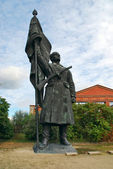 Red Army soldier statue, Memento Park — Stock Photo