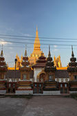 Pha That Luang is a large gold-covered Buddhist stupa in the centre of Vientiane, Laos — Stock Photo