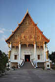 Wat That Luang Neua is a Buddhist temple to close great golden stupa in the centre of Vientiane, Laos — Stock Photo
