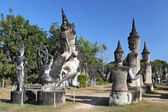 Buddha Park, also known as Xieng Khuan, is a park full of bizarre and eccentric statues near Vientiane, Laos, SE Asia — Stockfoto