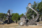Buddha Park, also known as Xieng Khuan, is a park full of bizarre and eccentric statues near Vientiane, Laos, SE Asia — Foto Stock
