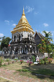 The Elephant Chedi at Wat Chiang Man, Chiang Mai, Thailand — Stock Photo