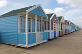 Beach huts in Southwold, Suffolk — Stock Photo
