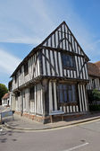 Half-timbered medieval cottage in Lavenham, Suffolk. — Stock Photo